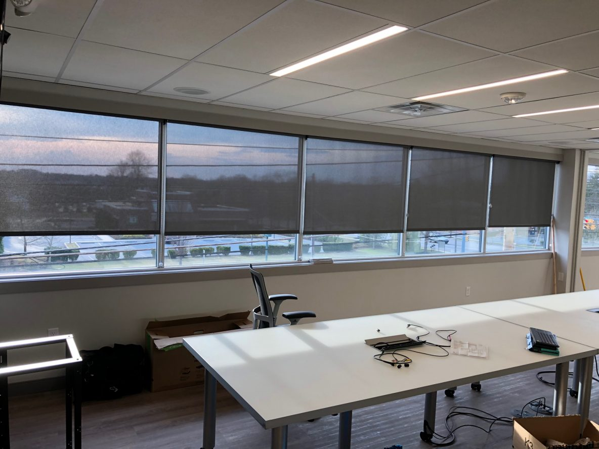Office In Bethlehem, Pennsylvania Enhanced With Roller Shades - Roller Shades in Stroudsburg, Pennsylvania, the Poconos, Lehigh Valley and Beyond