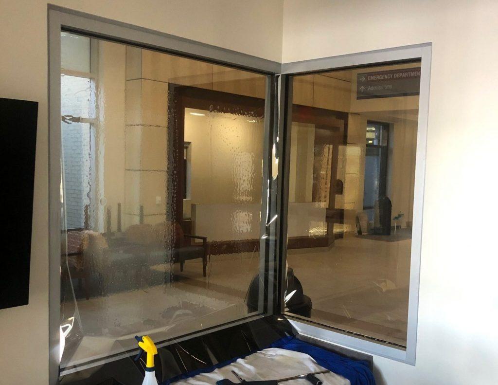 Privacy Window Film Used in Hazleton, Pennsylvania Office Space 3